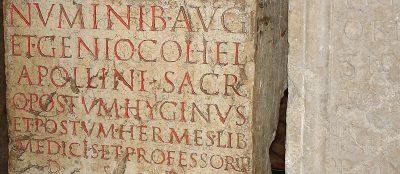 Aventicum: Römische Inschriften im Museum, Kanton Waadt. Foto: Wiedmer, Christian: Worb.