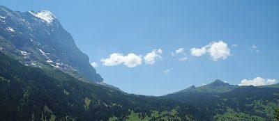 Eiger und kleine Scheidegg von Grindelwald aus gesehen. Foto: Wiedmer, Christian: Worb.